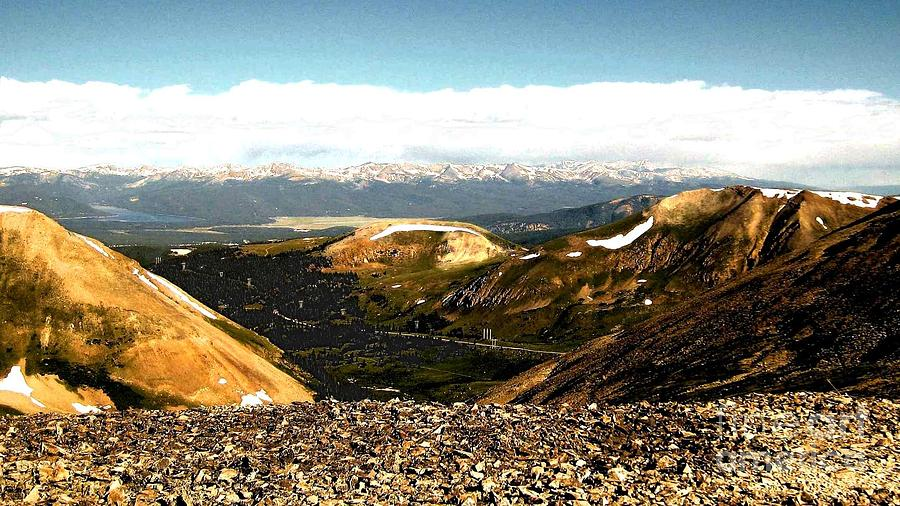 Mountains Photograph - View From The Top by Claudette Bujold-Poirier