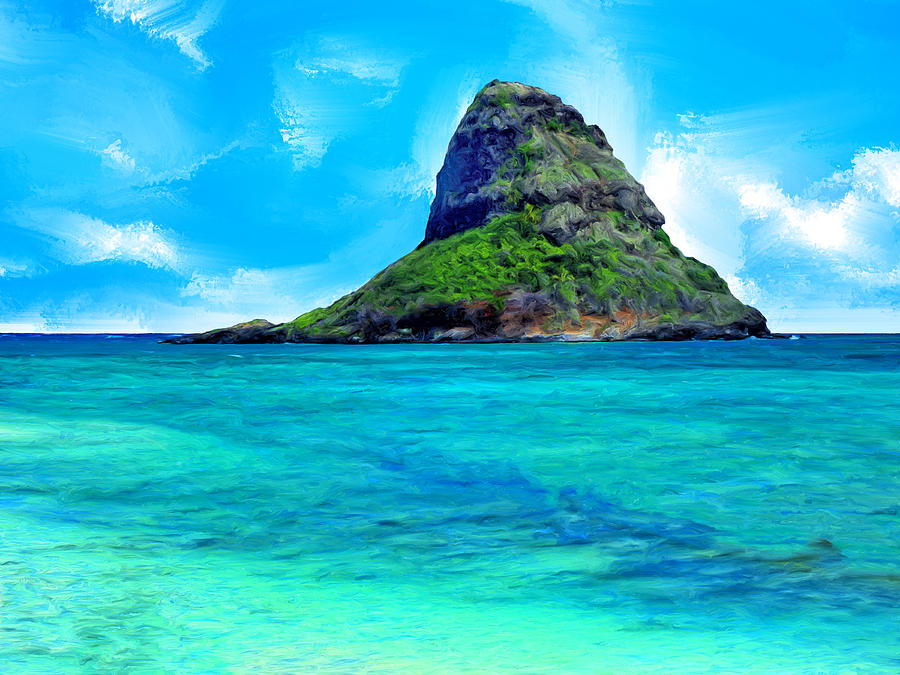 View Of Chinaman S Hat Painting By Dominic Piperata