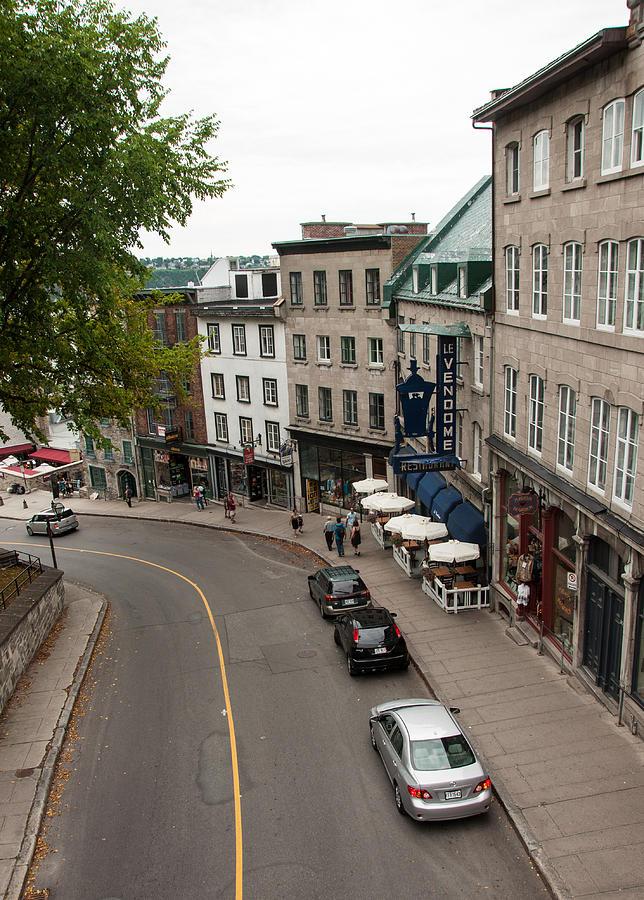 Quebec Photograph - View of Cote de la Montagne  by Rosemary Legge