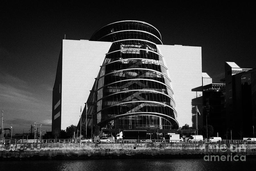 View Photograph - View Of The River Liffey And The Convention Centre Dublin Republic Of Ireland by Joe Fox