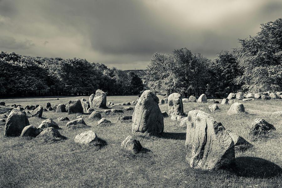 Horizontal Photograph - Viking Burial Ground, Lindholm Hoje by Panoramic Images