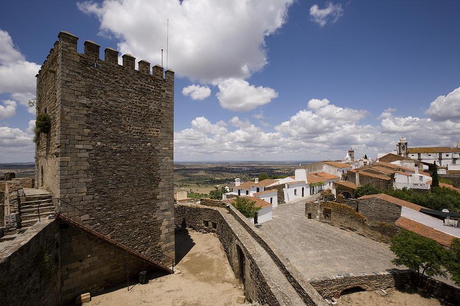 Horizontal Photograph - Village Of Monsaraz Portugal by Jim  Wallace