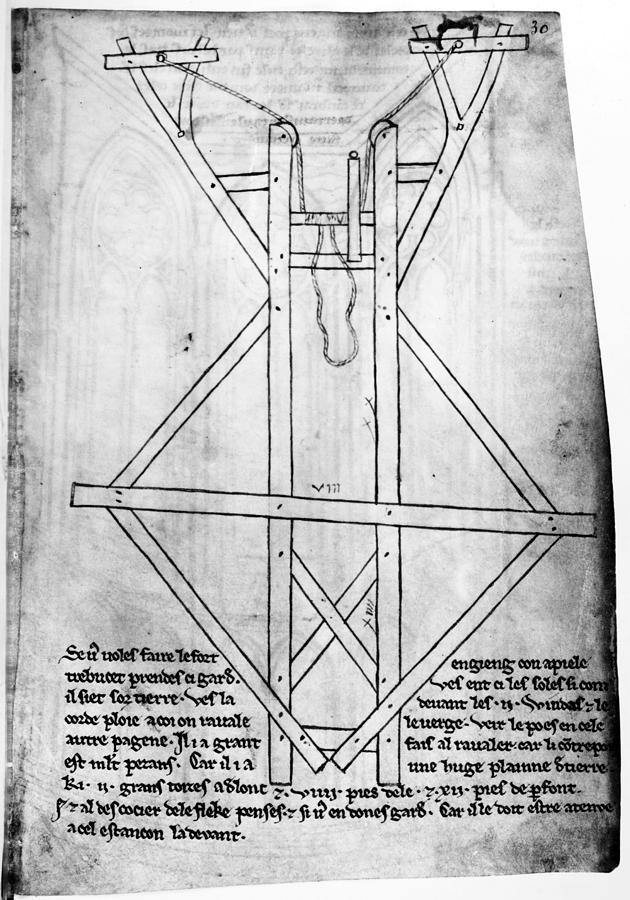 13th Century Drawing - Villard De Honnecourt (c1225-c1250) by Granger