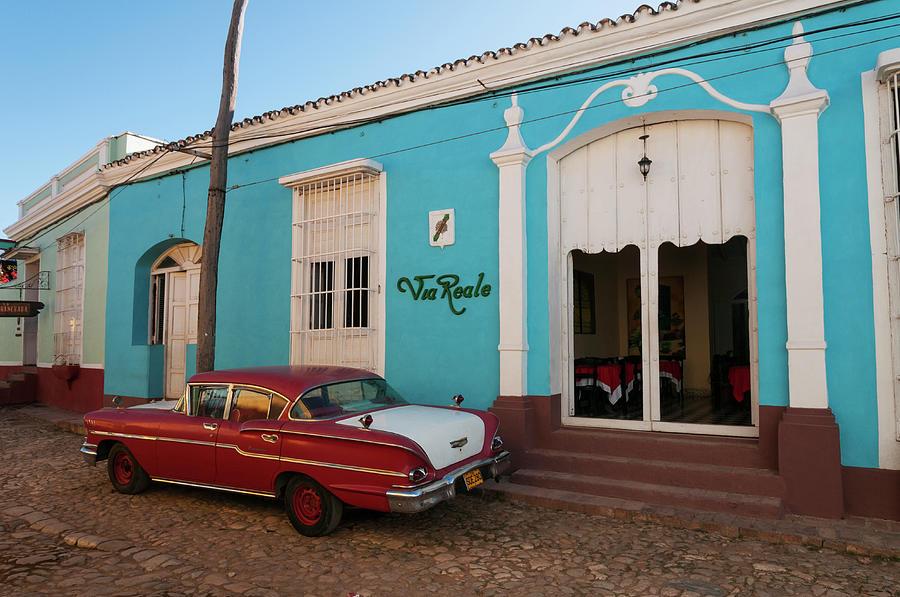 Vintage American Car In Cuba Photograph by John Elk Iii