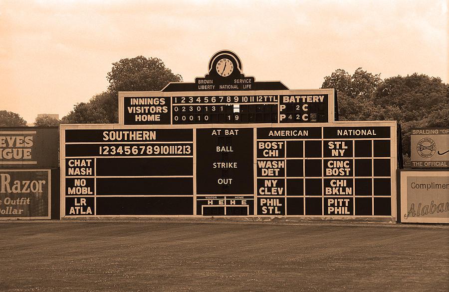 Vintage Baseball Scoreboard Photograph By Frank Romeo