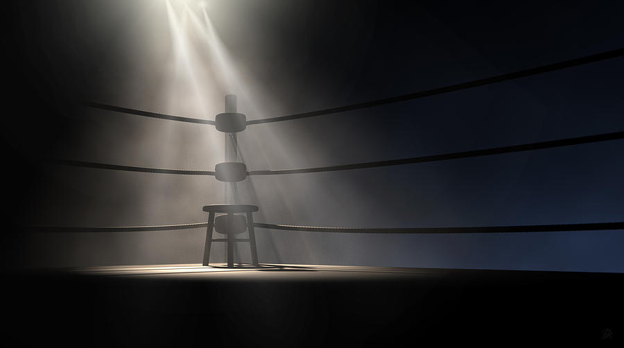 Vintage Boxing Corner And Stool Digital Art By Allan Swart