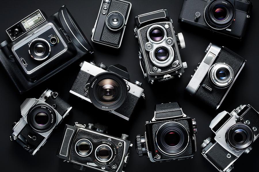 Vintage Cameras Photograph by Jorg Greuel