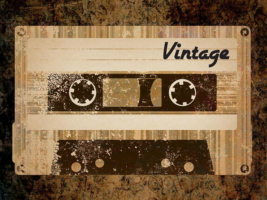 Vintage Digital Art - Vintage Cassette by Sara Ponte