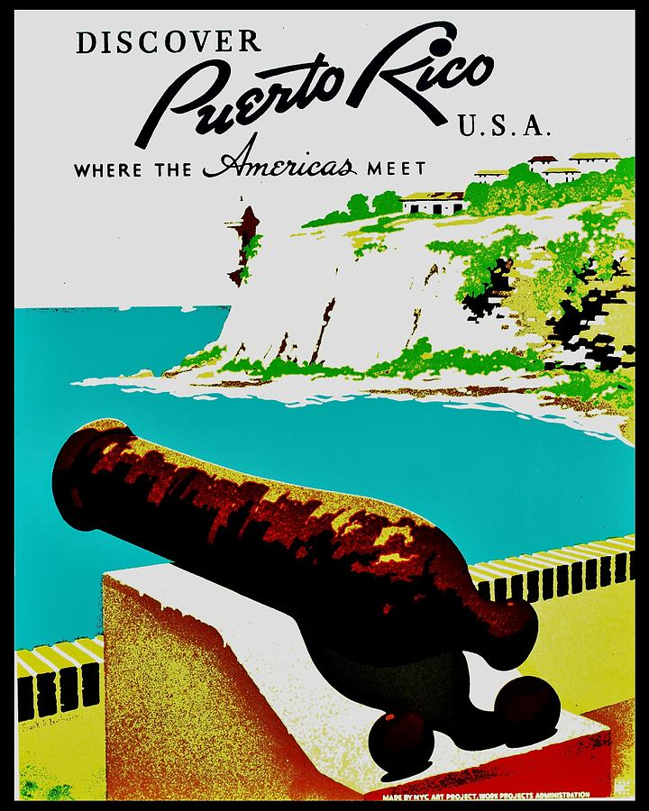 United States Photograph - Vintage Poster - Puerto Rico by Benjamin Yeager
