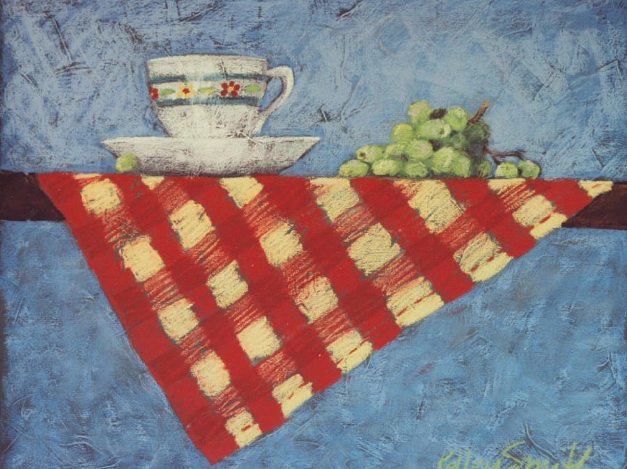 Grapes Painting - Vintage Still Life Series by Kelley Smith