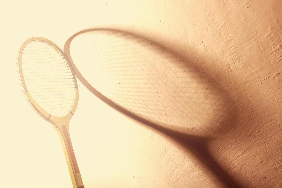 Tennis Photograph - Vintage Tennis Racket by Dutourdumonde Photography