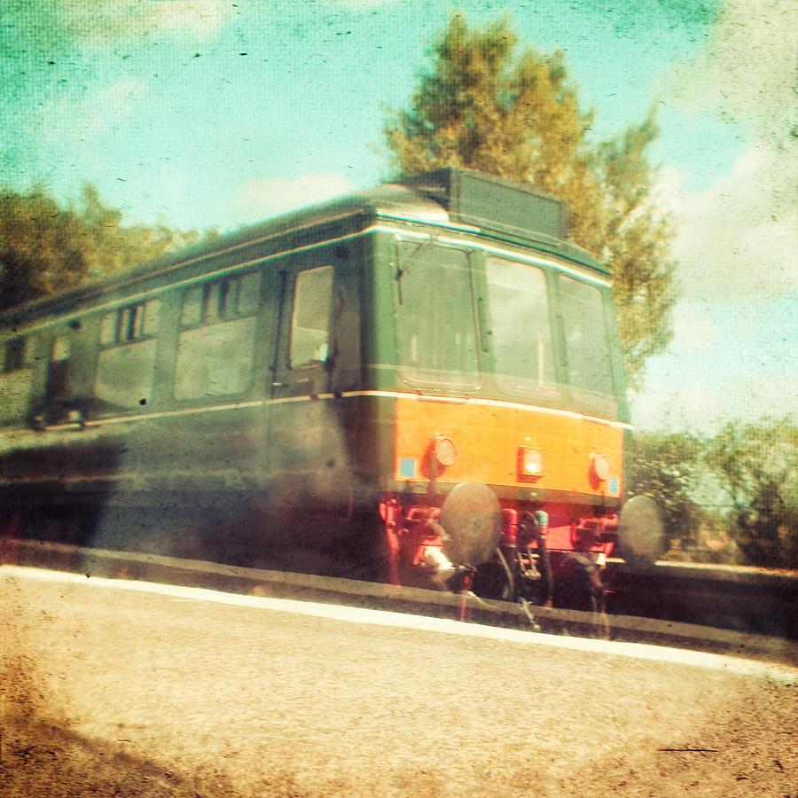 Vintage Train Photograph by Innershadows Photography