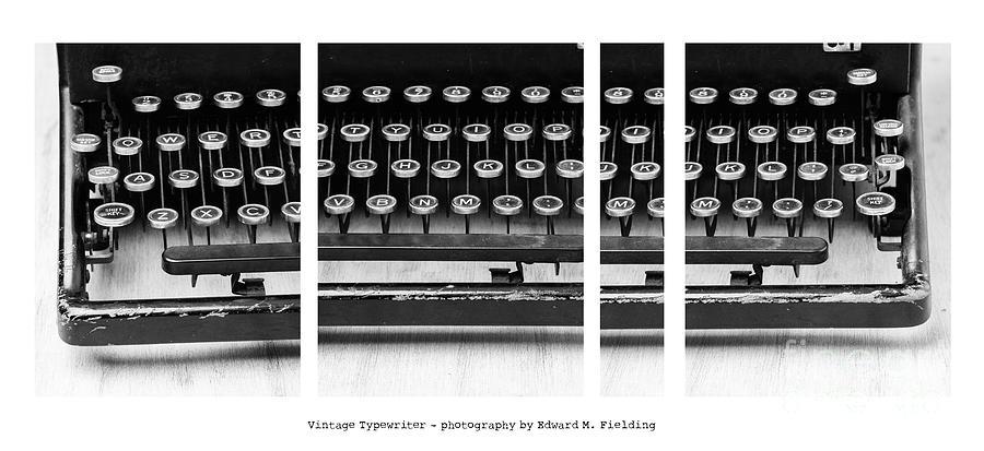 Typewriter Photograph - Vintage Typewriter by Edward Fielding