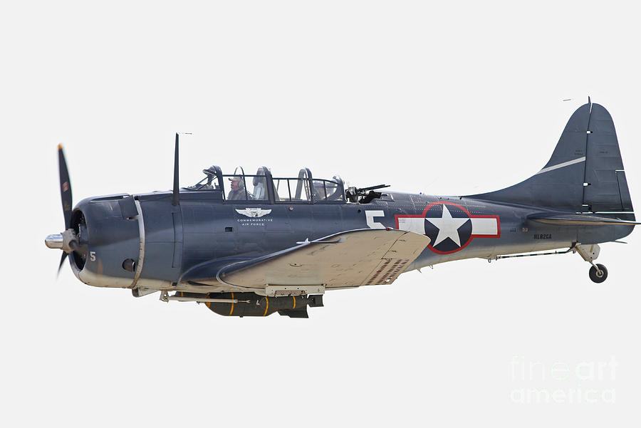 Bomber Photograph - Vintage World War II Dive Bomber by Kevin McCarthy