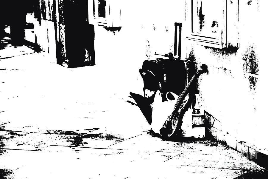 Violin Photograph - Violin In The Street by Stefano Piccini