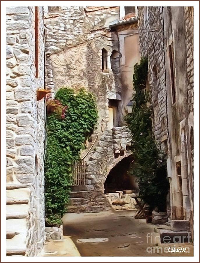 France Digital Art - Viols-le-fort  by Gra Howard