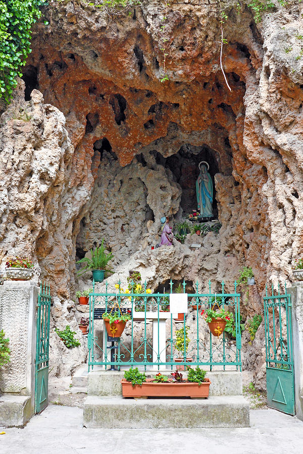 Christ Photograph - Virgin Mary Grotto by Borislav Marinic