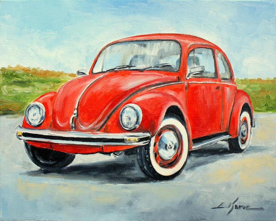 Vw Beetle Painting By Luke Karcz