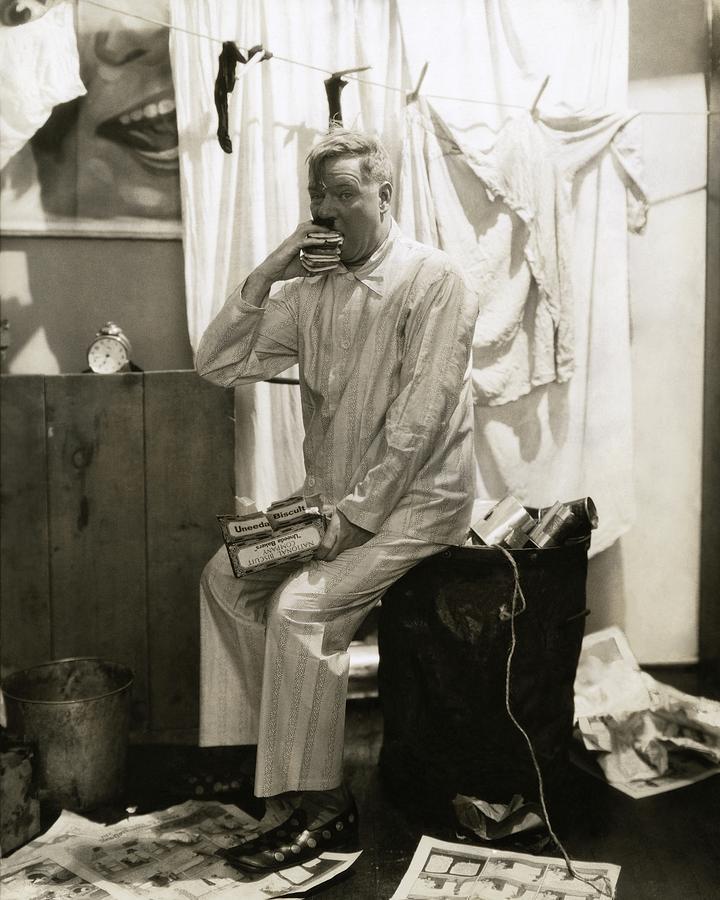 Actor Photograph - W. C. Fields Wearing Pyjamas by Edward Steichen