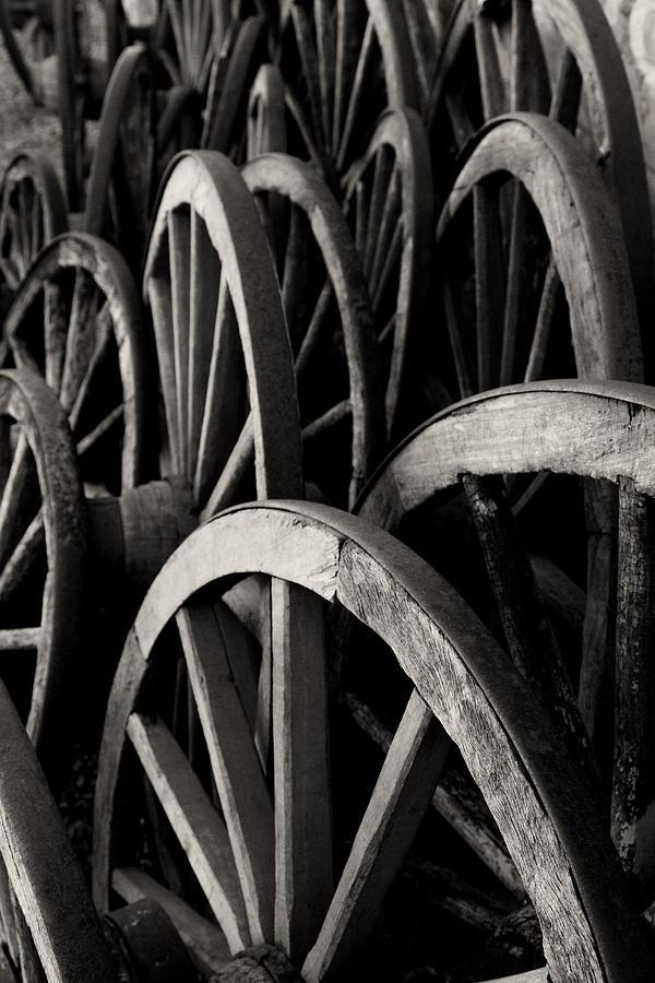 Wagon Wheels Photograph - Wagon Wheels by John Nelson