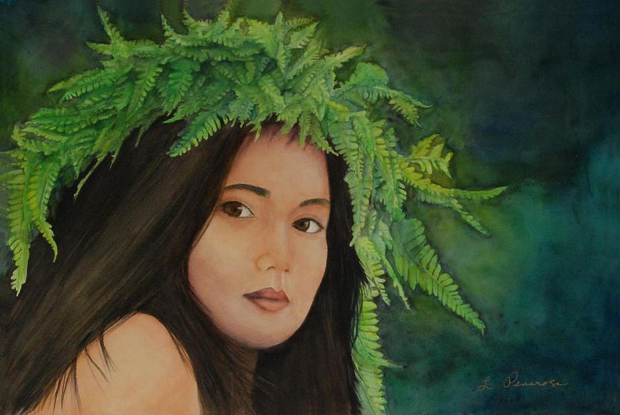 Water Color Painting Painting - Wahine In Haku by Luane Penarosa