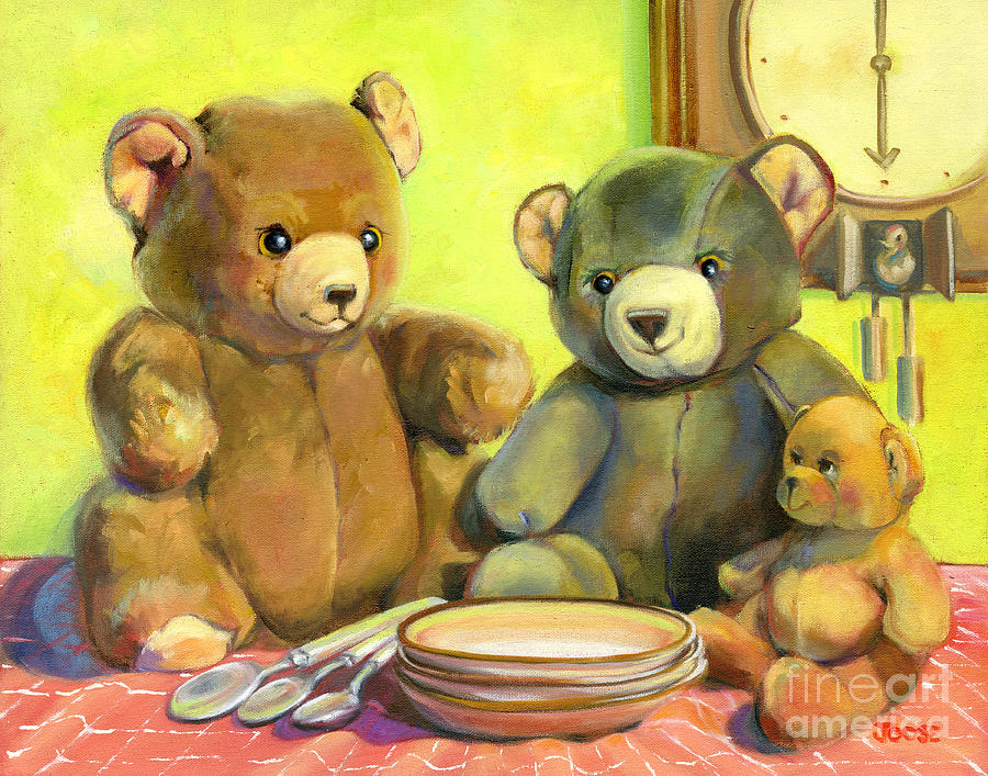 Children Painting - Waiting For Goldilocks by Joose Hadley