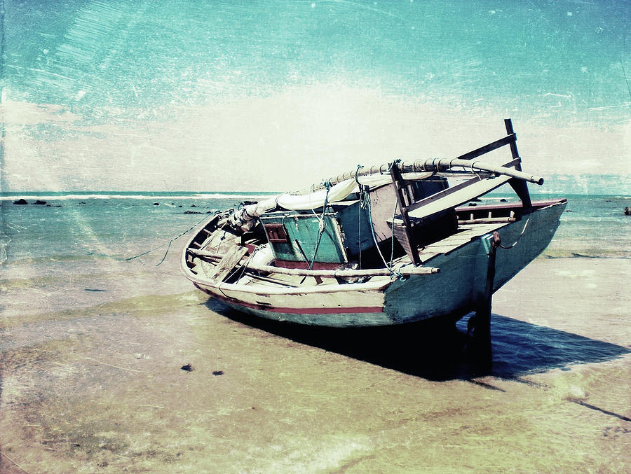 Boat Photograph - Waiting for the tide by Nicklas Gustafsson