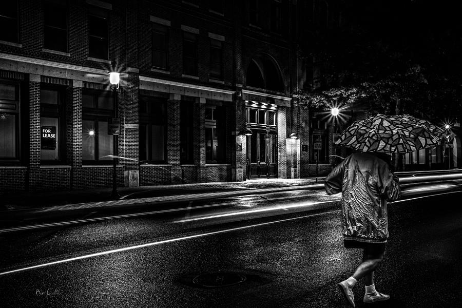 Walking In The Rain Photograph - Walking In The Rain   by Bob Orsillo