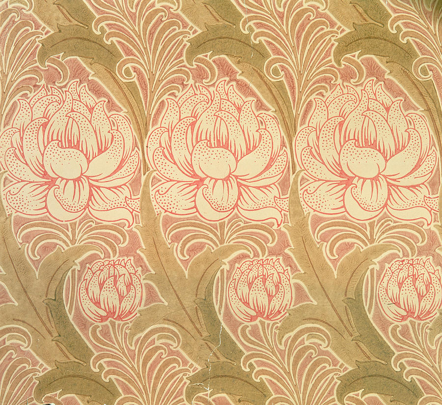 Wallpaper tapestry textile wallpaper design by victorian voysey