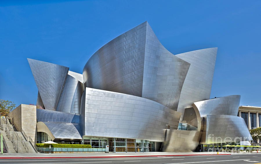 Walt Disney Concert Hall Vertical Exterior Building Frank