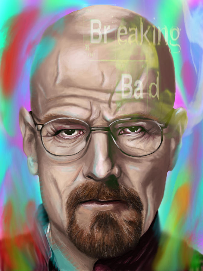 Walter Digital Art - Walter White by Jamie Bishop