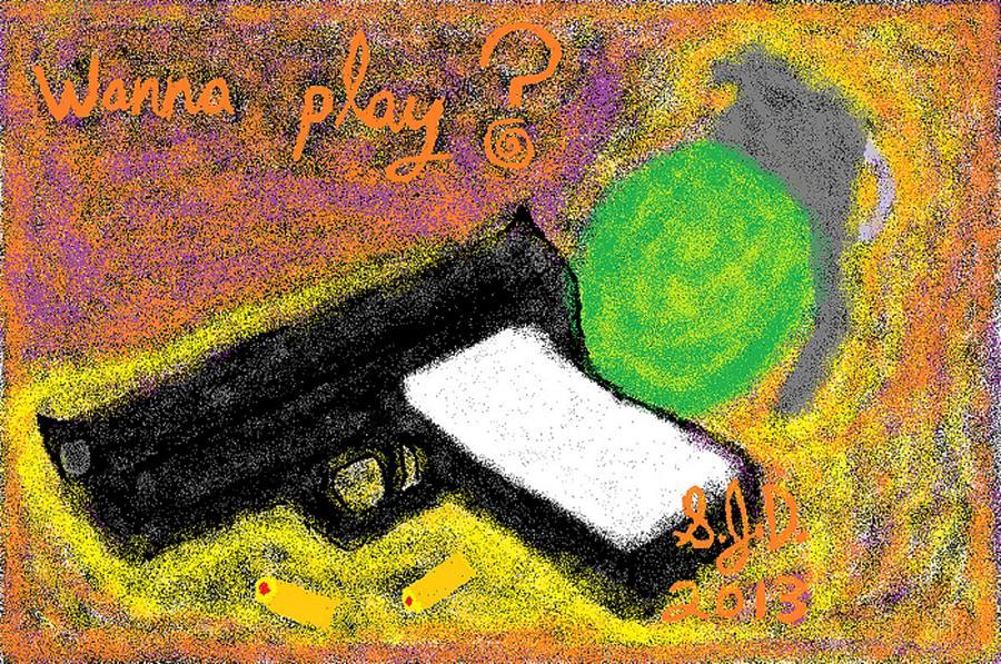 Digital Art - Wanna Play? by Joe Dillon