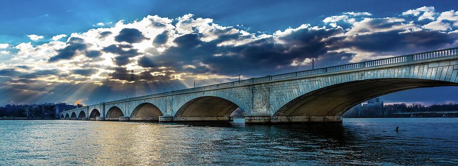 Horizontal Photograph - Washington D.c. - Memorial Bridge by Panoramic Images