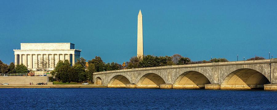 Horizontal Photograph - Washington D.c. - Memorial Bridge Spans by Panoramic Images