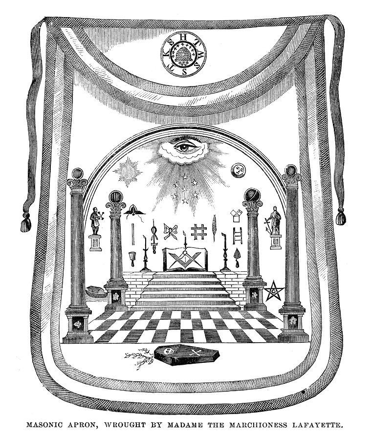 1784 Painting - Washington Masonic Apron by Granger