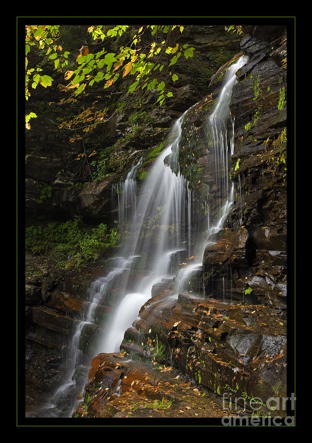 Waterfall Photograph - Water On The Mountain by John Stephens
