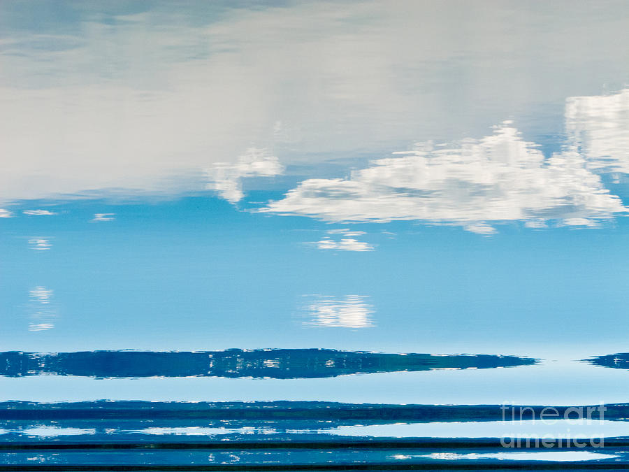Water Surface Mirrored Landscape Abstract Photograph