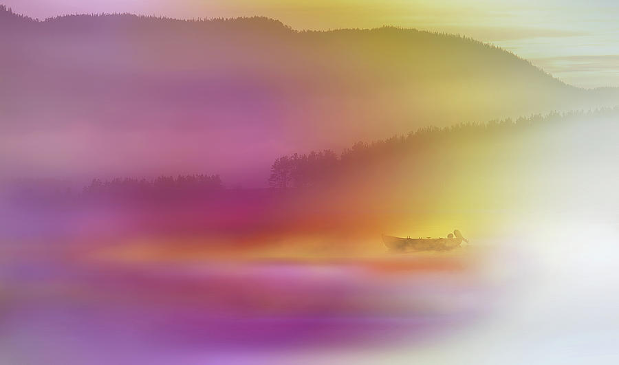 Abstract Photograph - Watercolor Seascape by Heidi Westum