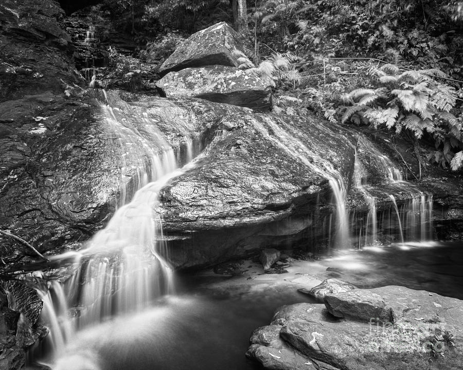 Black & White Photograph - Waterfall 04 by Colin and Linda McKie