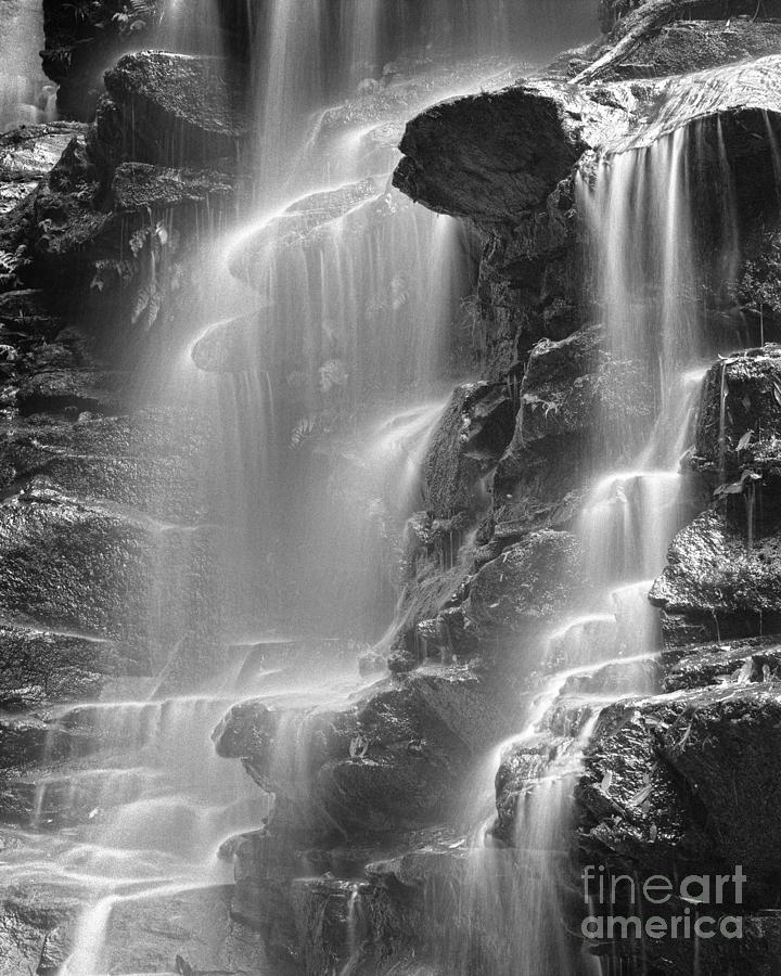 Black & White Photograph - Waterfall 05 by Colin and Linda McKie