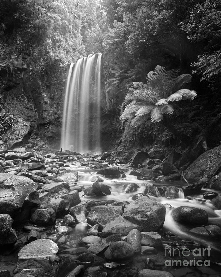 Black & White Photograph - Waterfall 09 by Colin and Linda McKie