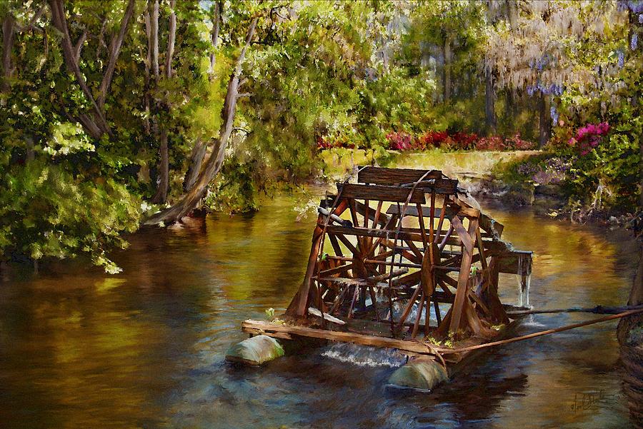 Waterwheel Painting - Waterwheel by Noel Steele