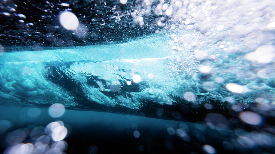 Wave Crashing Underwater Photograph by Subman