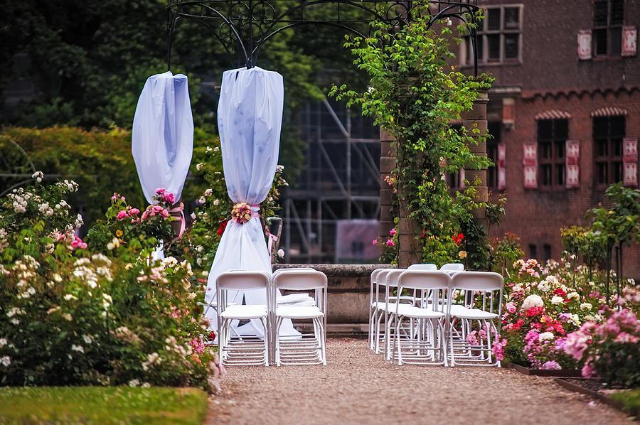 Utrecht Photograph - Wedding Arrangement In De Haar Castle. Utrecht by Jenny Rainbow