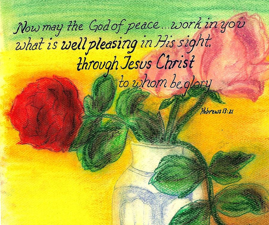Uplifting Painting - Well Pleasing by Catherine Saldana