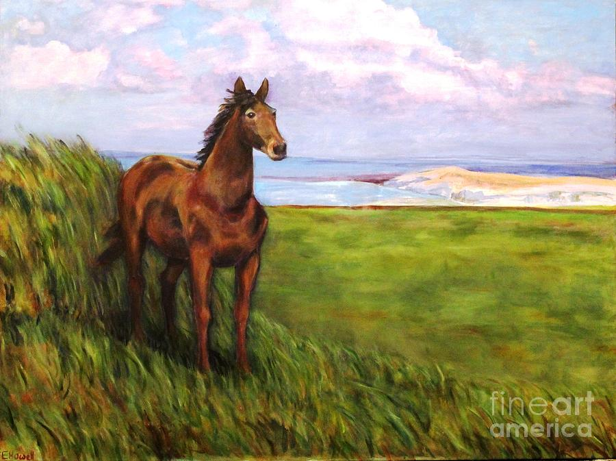 Quarter Horse Painting - Welsh Breezes by Ellen Howell