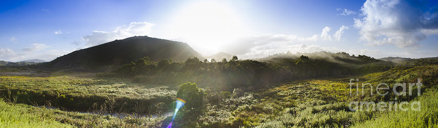 Nature Photograph - West Coast Range Landscape In Tasmania Australia by Jorgo Photography - Wall Art Gallery