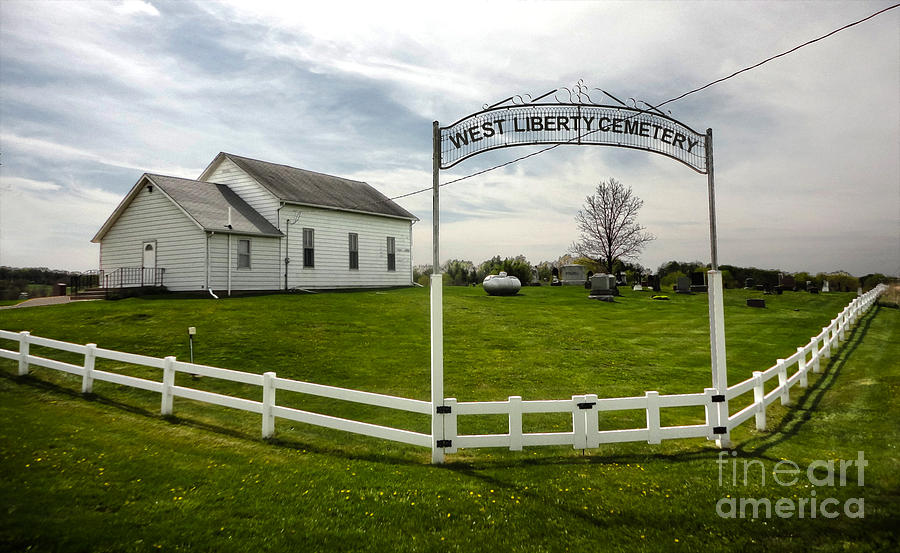 Downtown Photograph - West Liberty Cemetery In Montezuma Iowa by Gregory Dyer