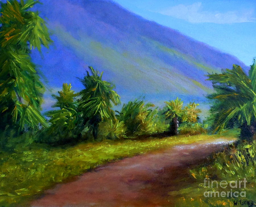 Landscape Painting - West Maui Mountains by Fred Wilson
