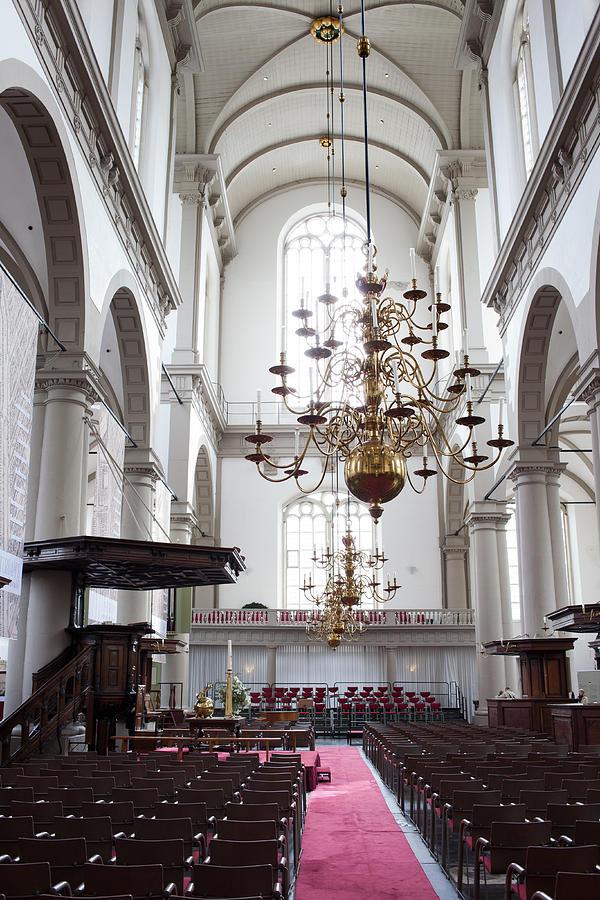 Westerkerk Photograph - Westerkerk Interior In Amsterdam by Artur Bogacki